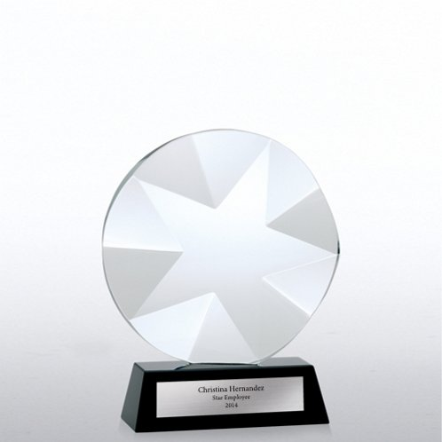 Beveled Star Elite Black Accent Crystal Trophy